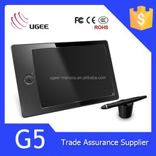 Ugee G5 kids signature tablet league with 9x6 Active Area/2048 level/5080 LPI/8GB memory card/Rechargable Pen