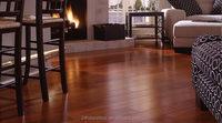 Water proof hand scraped acacia engineered solid lumber floor
