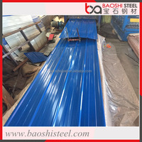 Baoshi Steel concrete color coated corrugated used metal roofing sheet for sale
