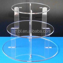OEM/ODM Clear acrylic cake cover for cake plate/wedding cake stand