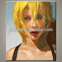 Factory Sale Sex Lady Painting, High Quality Portrait Oil Painting