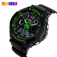 2015 New S SHOCK SKMEI Luxury Brand Men Military Sports Watches Digital LED Quartz Wristwatches Rubber Strap relogio masculino
