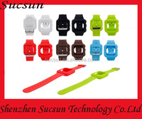 Silicone Watch Band And Case For Apple Watch Strap Silicone Wrist Band Strap With Case Colorful
