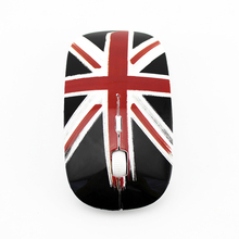 Newest products wireless mouse British flag shape mouse free sample 2.4Ghz promotion wireless mouse