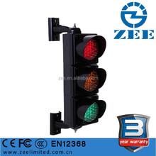 3 Year Warranty IP65 Waterproof 100mm LED Miniature Traffic Signal Light, UV-stabilized PC Cover 4 inch LED Traffic Light