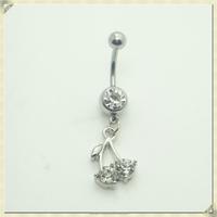 White stone belly ring sterilized body jewelry piercing female body piercing jewelry (YZN-025)