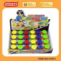 New Design Kids Sharp Shooter Flashing Plastic Toy Spinning Top 24PCS Pack