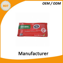 10pcs auto cleaning wipes interior cleaning