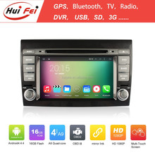 HuiFei Quad-core Car DVD For Fiat RK3188 A9 Chip 16GB Built-in 3G WIFI Bluetooth DVR Mirror Link