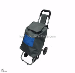 Whole Foods Market Shopping Trolley with Large Detachable Canvas Bag