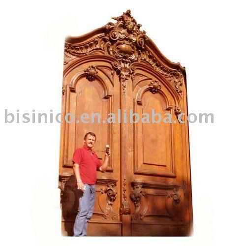 Classic hand carved solid wood door wooden door interior for Solid wood door company