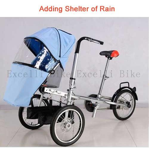 taga bike baby stroller bike  rain cover  folding mother carrier bicycle carrinho de