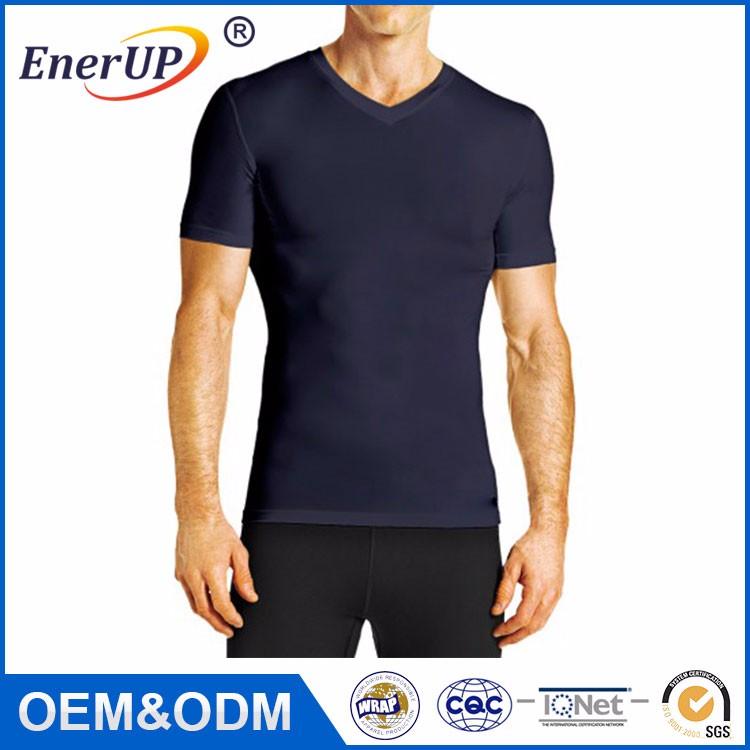 Cobre Compressão Execução Desgaste camisa de Manga Curta T para Homens