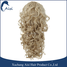 Light blonde high temperature fiber long hair ponytail , hair extension , Synthetic ponytail