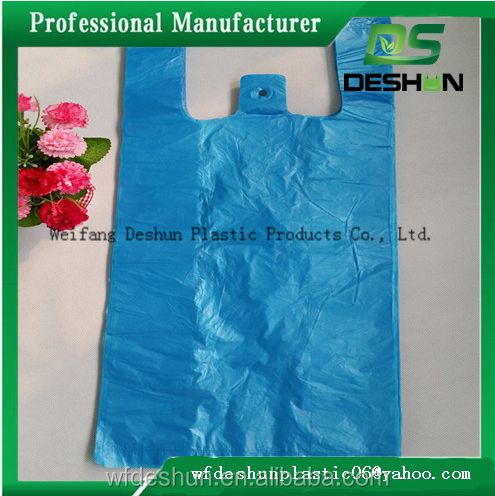 Custom printed plastic t shirt bags for shopping grocery for Personalized t shirt bags