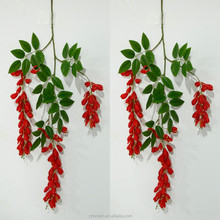red Flower Vine Artificial Flowers large wisteria simulation rattan flower for wedding bracketplant decoration