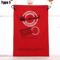 Whole sale Online With 50 pcs Free Shipping Cheap High Quality Christmas Gift Bags Santa Sack Bag with Drawstring