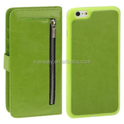 2 in 1 Separable Crazy Horse Texture Wallet Style Flip Leather Case for iPhone 6