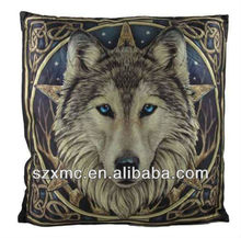 The most fashionable noble hold pillow with personalized 3D printed wolf head picture back cushion/pillows