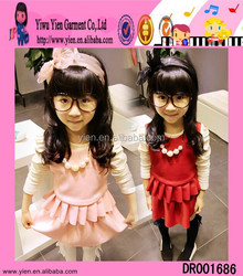 Wholesale China Frock Design For Girl Pink Red Frock Design For Girl