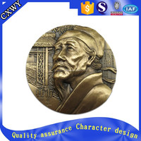 Chinese Ancient Human Image custom old brass/copper coin