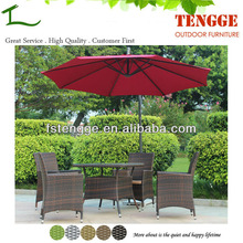 TG15-0054 Outdoor UV resistant wicker dining chair and table