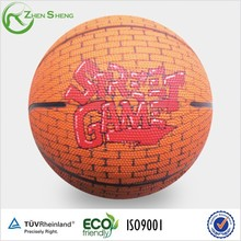 Zhensheng School Training Bouncing Basketballs