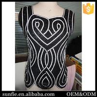 2015 summer famous Irregular neck blouse design fashion casual blouse