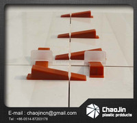 plastic tile leveling system wedges and clips
