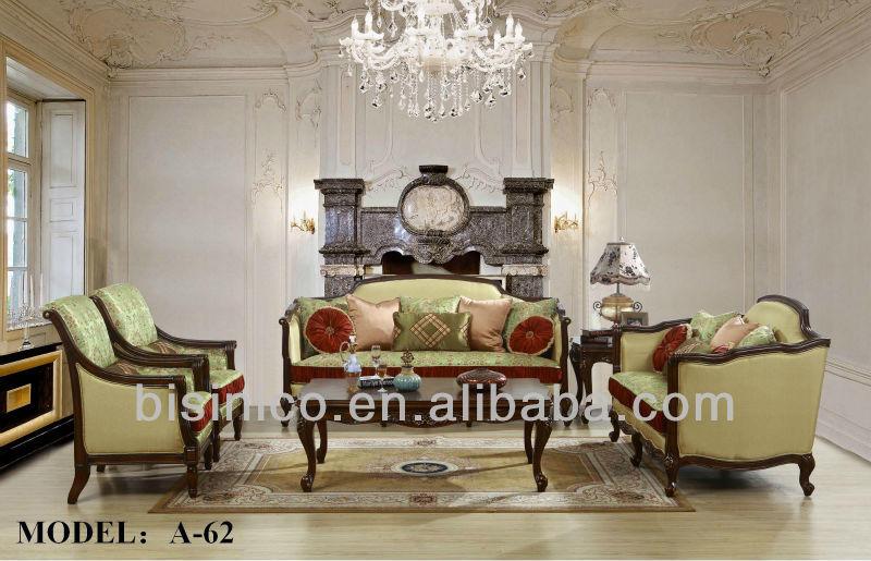 meubles de salon de luxe antique style espagnol et ensembles de sofa canap classique europ en. Black Bedroom Furniture Sets. Home Design Ideas