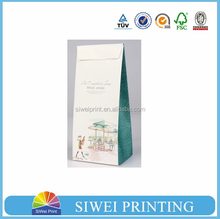 Popular customized white kraft paper bag with printing & PVC for cake packing