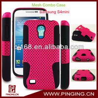 2 in 1 mesh cell phone combo case for samsung galaxy s4 mini