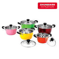 SZB -43 stainless steel colorful cookware sets / stainless steel10pcs spray paint cookware set