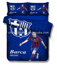 Messi footbal star pattern kids bedding set for boys