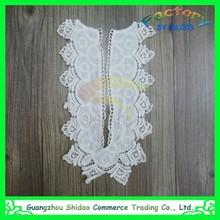cotton crochet lace collar neck designs for ladies suit