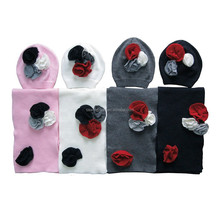 Baby Children Lovely Acrylic beanie Hat and Scarf
