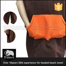 Super-absorbent garments wholesale hooded poncho towel adult