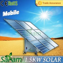 Cool design 1.5KW portable solar power