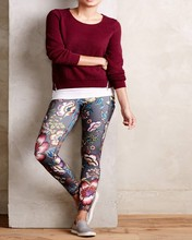wholesale 89%polyester 11%spandex Sexy Jogging Women, printed pants