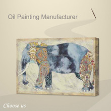 Hot Sell Cartoon Elephant Painting,Oil Painting Canvas of Elephant