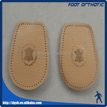 Foot care healthy insole arch support with half leather