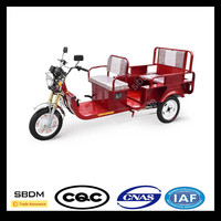 SBDM Motorcycle Solar Electric Tricycle 3 Wheel 3 Seat