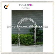 Ornate White Metal Wire Garden Arch