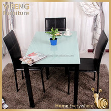 hot sale dinning table modern cheap metal and glass dining table high quality dinning tables and chairs dinning room furniture