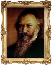 Portrait of Johannes Brahms , Painting, Oil Handmade Painting