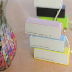 Perfumes Portable Power Bank 2600Mah charge for cell phone External powerbank wholesale promation