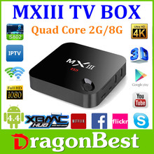 Full Hd 1080P Porn Video Xbmc Streaming Tv Box Mx3, Amlogic S802 Quad Core Media Player,Google Android 4.4 Tv Box