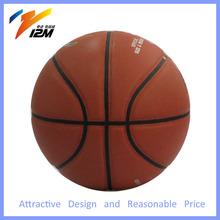 custom print PU leather orange basketball