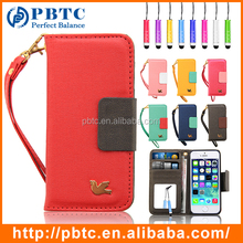 Set Screen Protector Stylus And Case For Iphone 5 , Wholesale Cheap Leather Phone Wallet Case