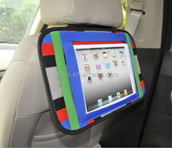 Car back seat organizer for ipad / elastic organizer board / back seat organizer for kids